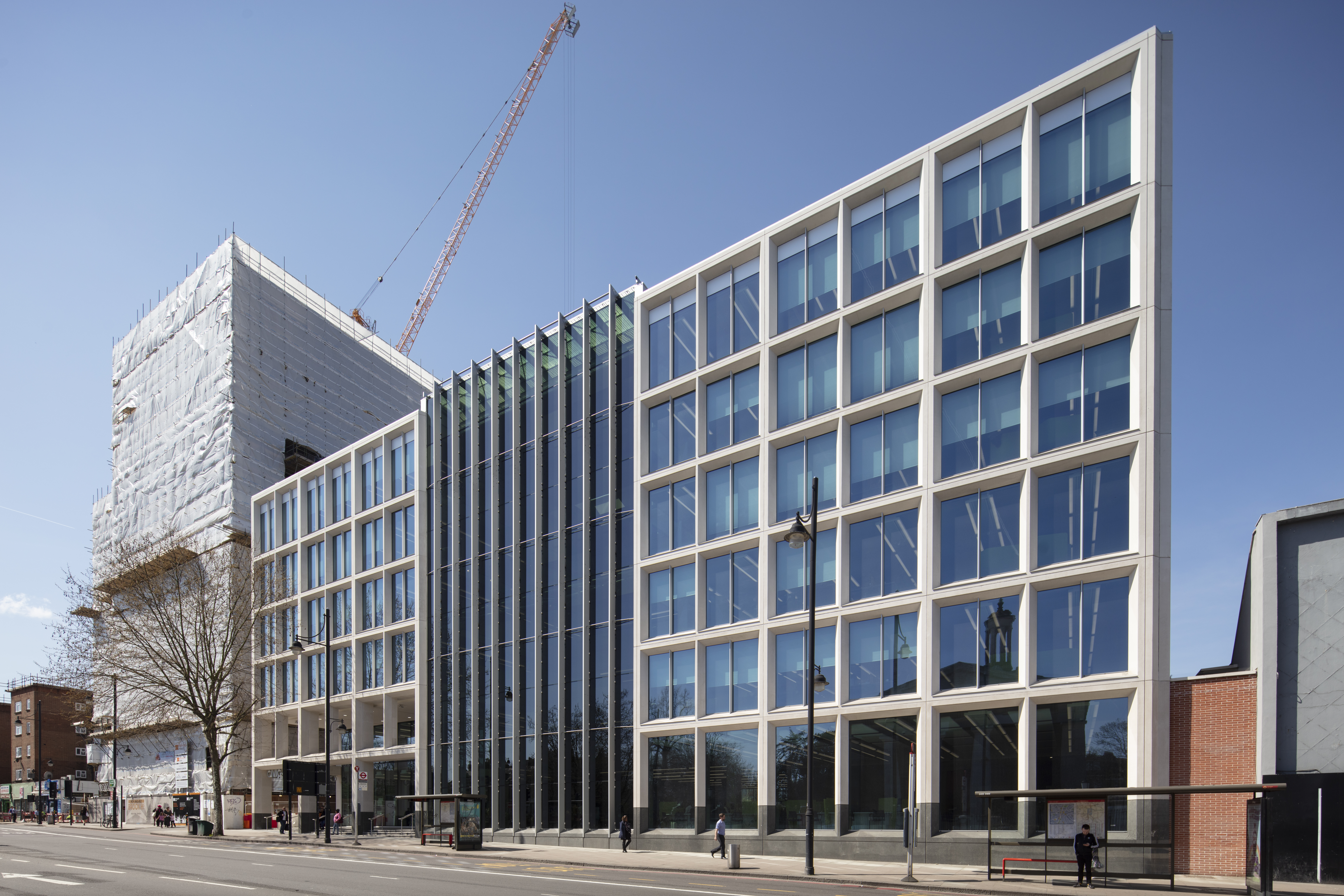 SageGlass helped Lambeth Civic Centre reach BREEAM 'Excellent'. Photograph: John Kees