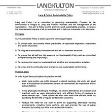 Lang+Fulton Sustainability Policy