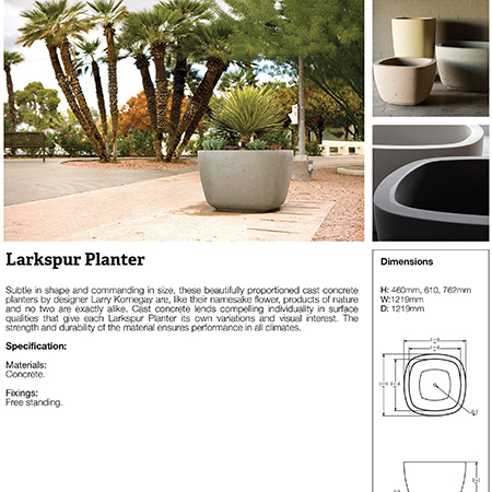 Larkspur Planter