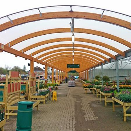 A Hybrid Canopy For Lechlade Garden Centre