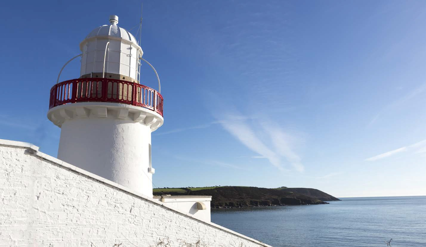 Youghal Lighthouse in County Cork, Ireland.