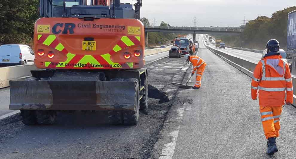 M62 kept safe with central reservation upgrades from Ballast Phoenix