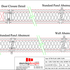 Kudos Sliding folding panel & wall abutment