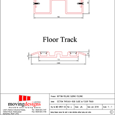 Kudos Section through head guide & floor track