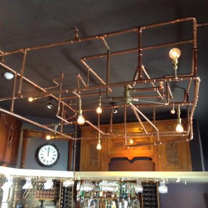 Geberit Mapress Pipework Used For Bespoke Light Fitting