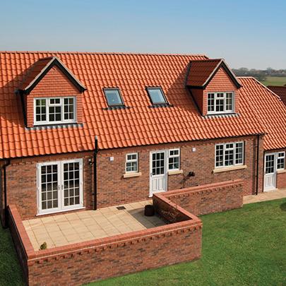 New build home uses new clay interlocking single pantile