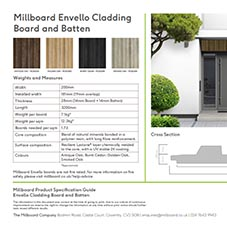 Envello Cladding Board and Batten Specification Sheet