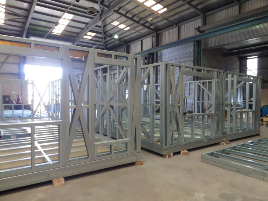 Hadley's lightweight & efficient structure for Modular Housing project