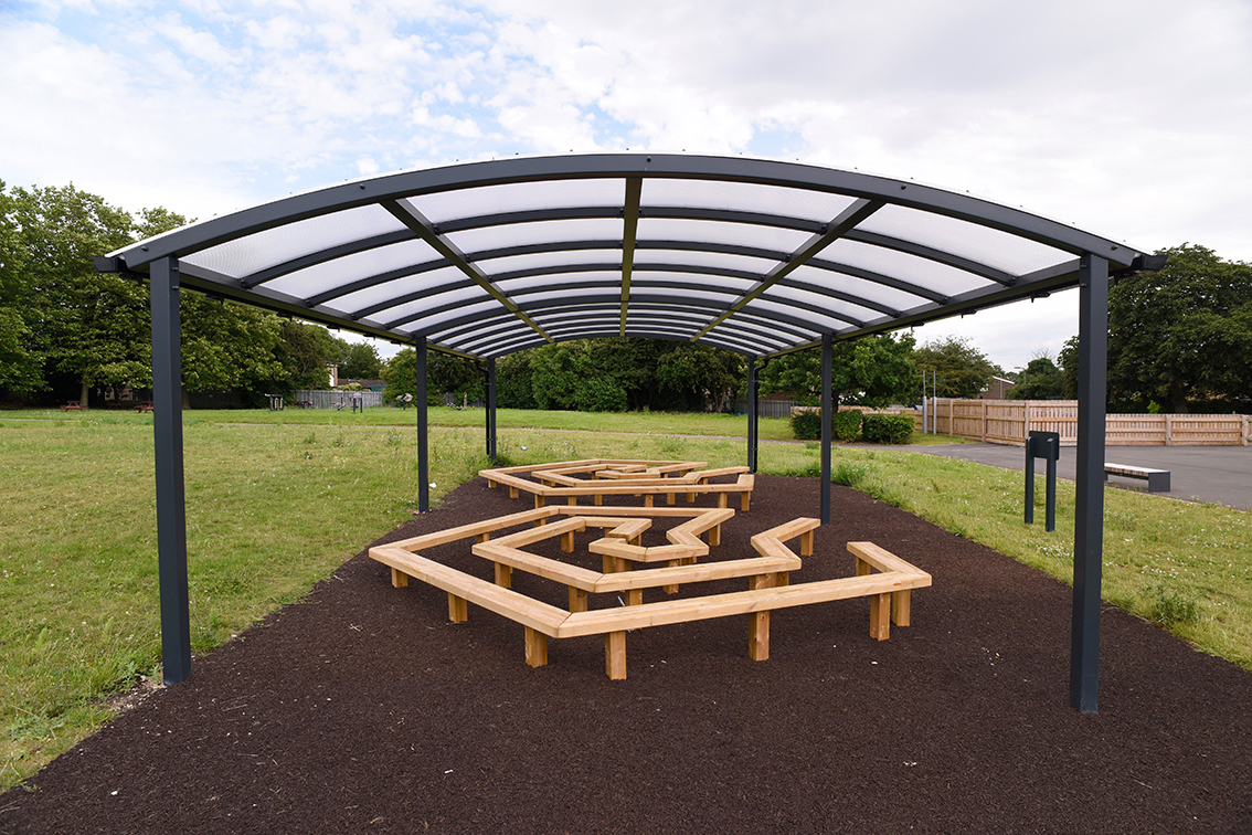 Newcastle Senior Symmetric canopy with Hand Made Places Amazing Seating
