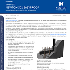 NEWTON 301 EASYPROOF Metal Construction Joint Waterbar