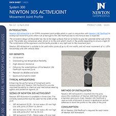 NEWTON 305 ACTIVEJOINT Movement Joint Profile