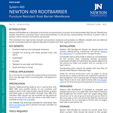 NEWTON 409 ROOTBARRIER - Puncture Resistant Root Barrier Membrane