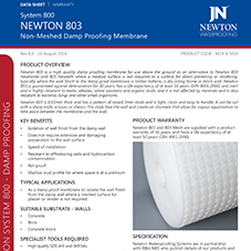 NEWTON 803 - Non-Meshed Damp Proofing Membrane
