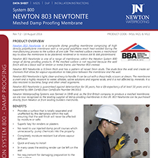 NEWTON 803 NEWTONITE - Meshed Damp Proofing Membrane