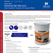 NEWTON 807 BKK ECO - Water Repellent Treatment For Exposed Walls