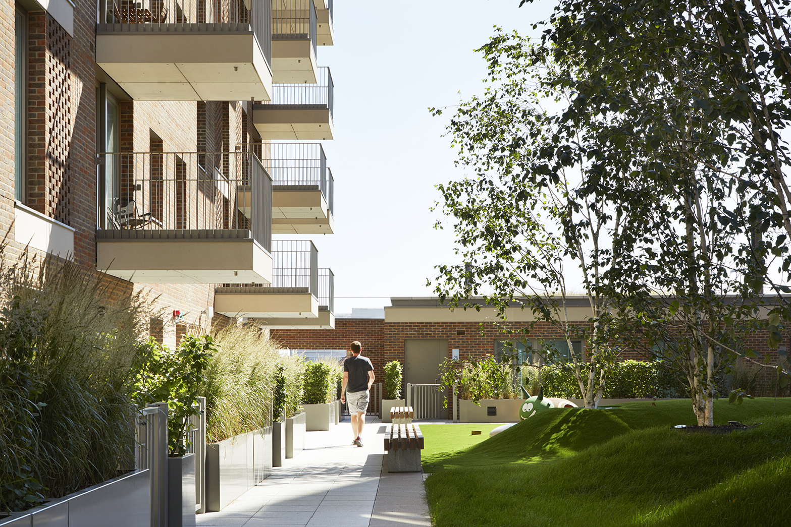 Exclusive roof gardens for The Old Vinyl Factory, West London