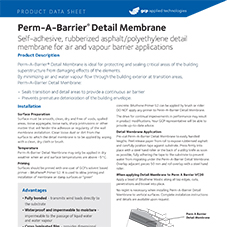 Perm-A-Barrier Detail Membrane product data