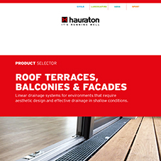 Product Selector: Roof terraces, balconies & facades