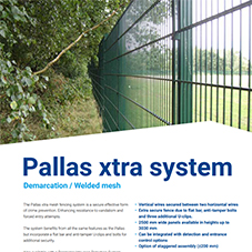 Pallas Xtra Welded Mesh Fencing Datasheet
