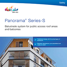 Panorama Balcony System - Series S - Aluminium glazed balcony systems