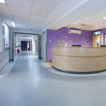 Resilient Vinyl Flooring Bronglais Hospital In Aberystwyth