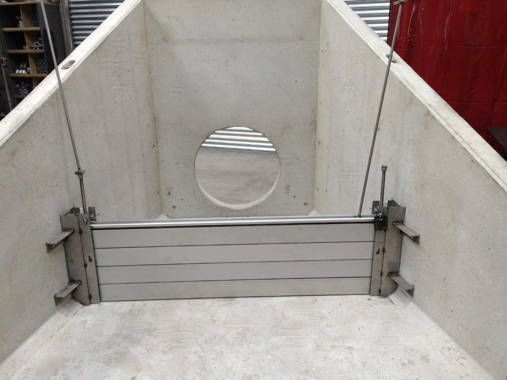Precast Concrete Headwall with Stop Logs
