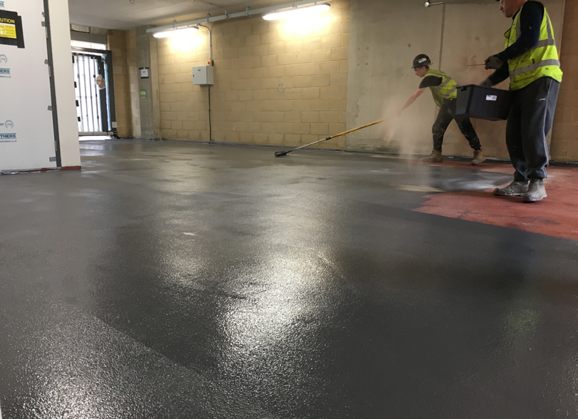 New-build car park waterproofing and protection