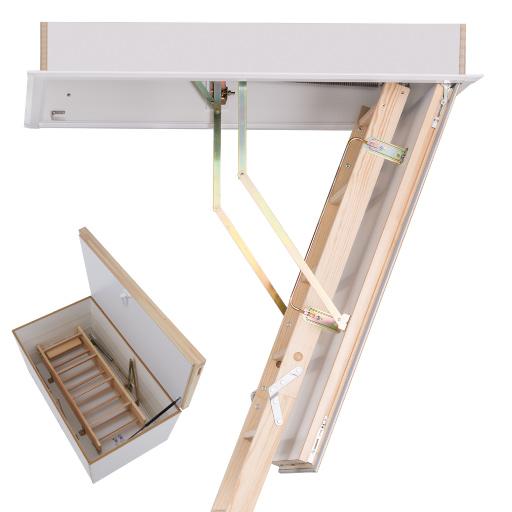 The new Quadro DD Wooden Loft Ladder from Premier Loft Ladders