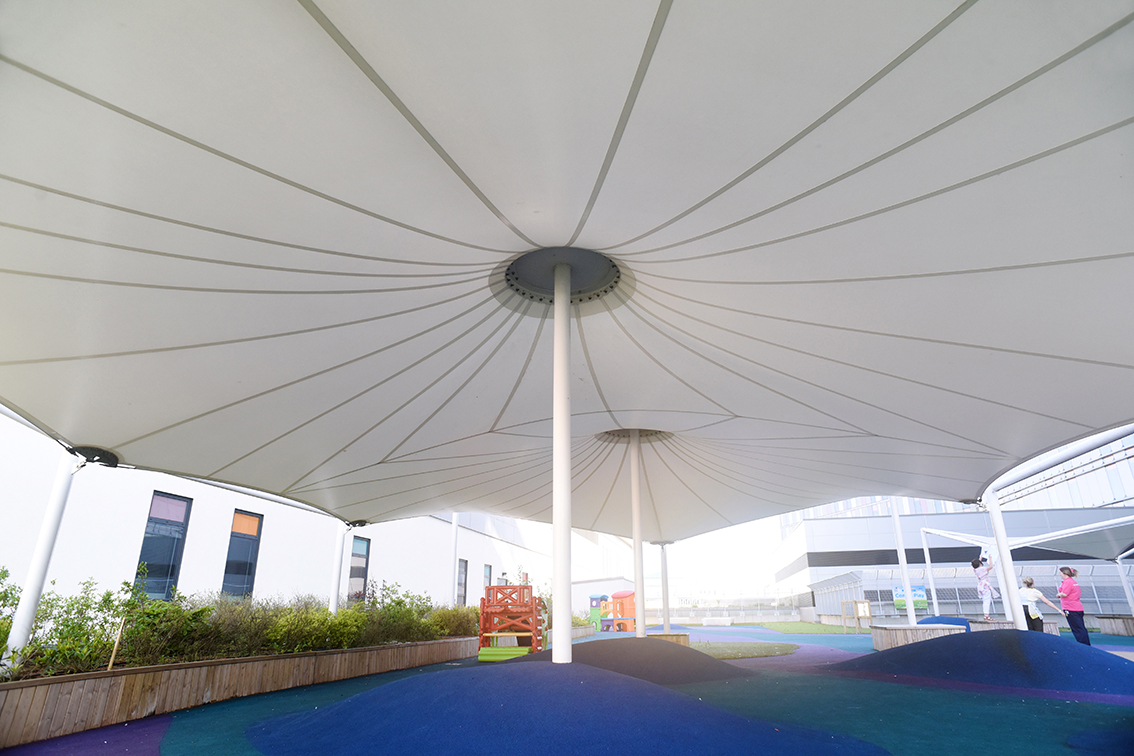 Sheltered play areas for Queen Elizabeth Hospital