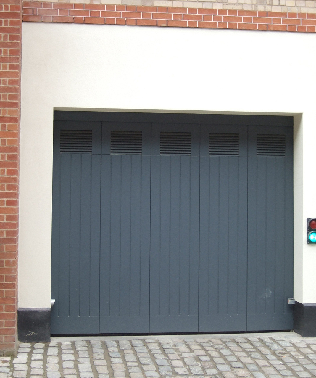 Rundum Meir doors with integrated vents offer fresh thinking for air flow in garages