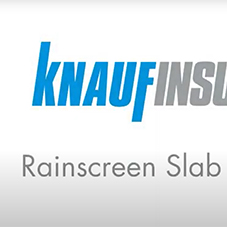 Knauf Insulation - Earthwool® RainScreen Slab Install