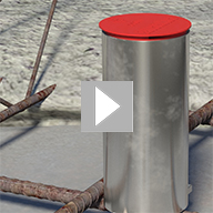Rebar Socket for use in precast concrete. Allows the COMBISAFE Edge protection to be installed at ground level prior to slab being lifted into position.