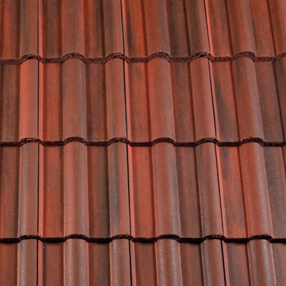 Two Redland Profiled Tiles Now Available In Rustic Red