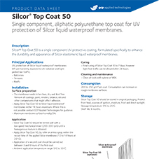 Silcor Top Coat 50 product data