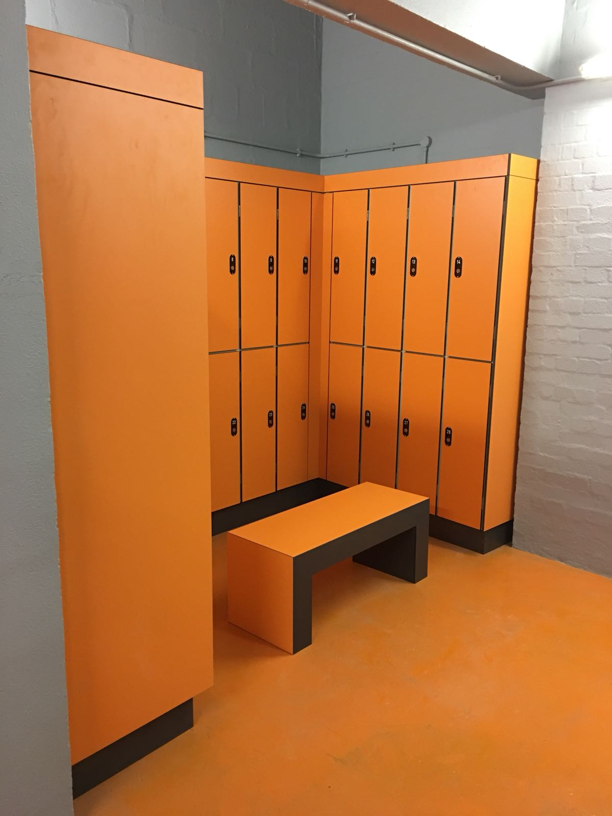 KEMMLIT creates vibrant commercial locker area in Savoy