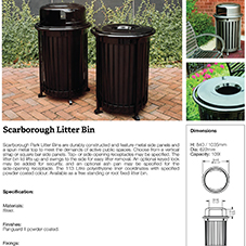 Scarborough Litter Bin
