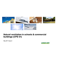 Natural ventilation in schools & commercial buildings