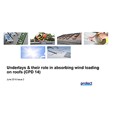 Underlays & their role in absorbing wind loading on roofs