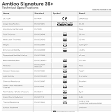 Amtico Signature 36+ Tech Data Sheet