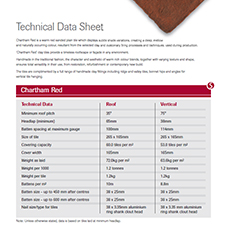 SIGnature Chartham Red Data Sheet