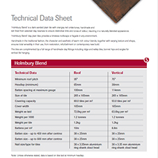 SIGnature Holmbury Blend Data Sheet