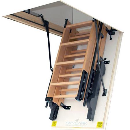 Skylark Fully Electric Foldaway Attic Stairs