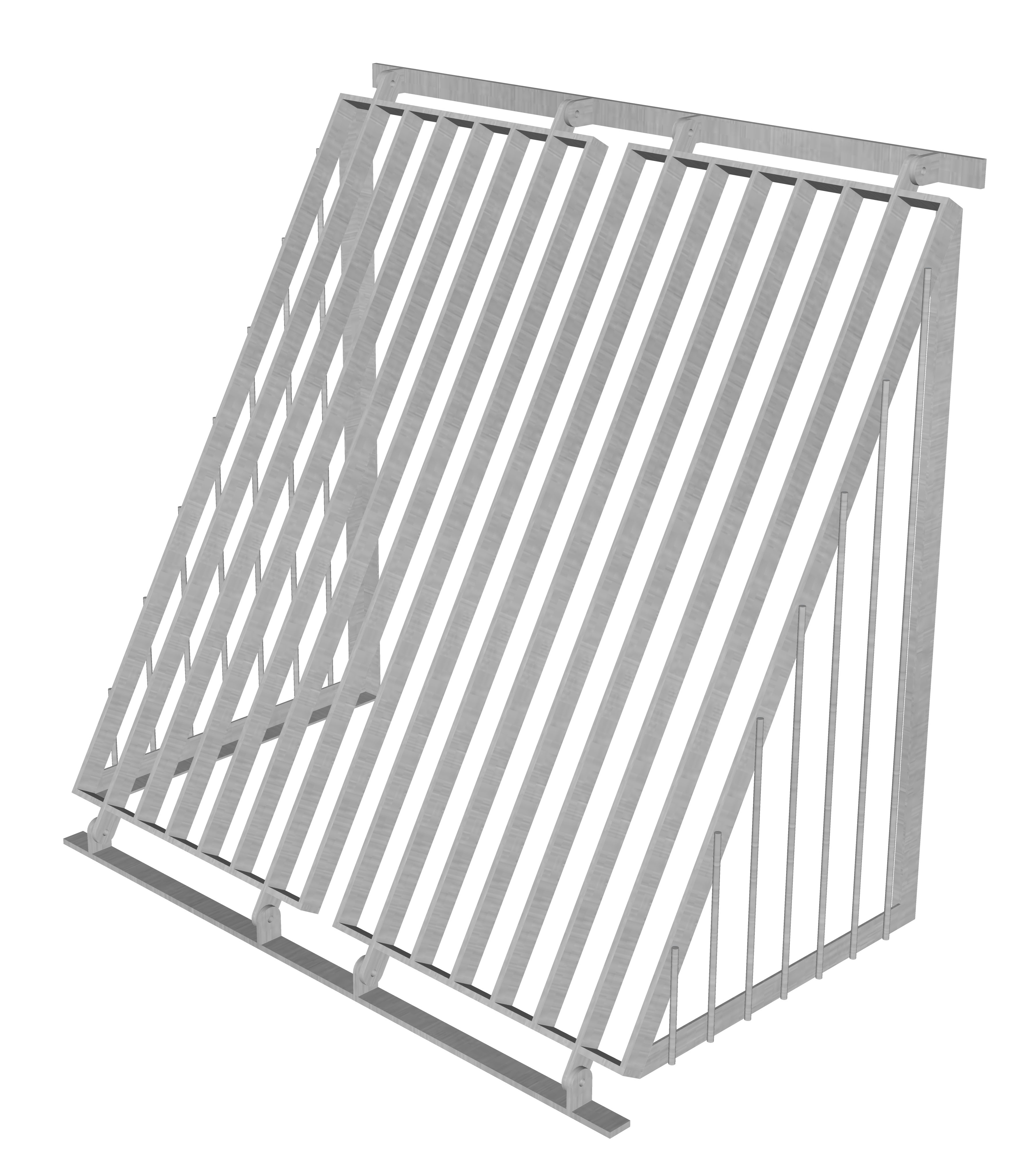 Sloped Trash Screen with Sides