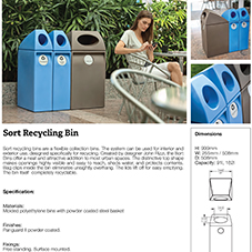 Sort Recycling Bin