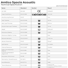 Amtico Spacia Acoustic Tech Data Sheet
