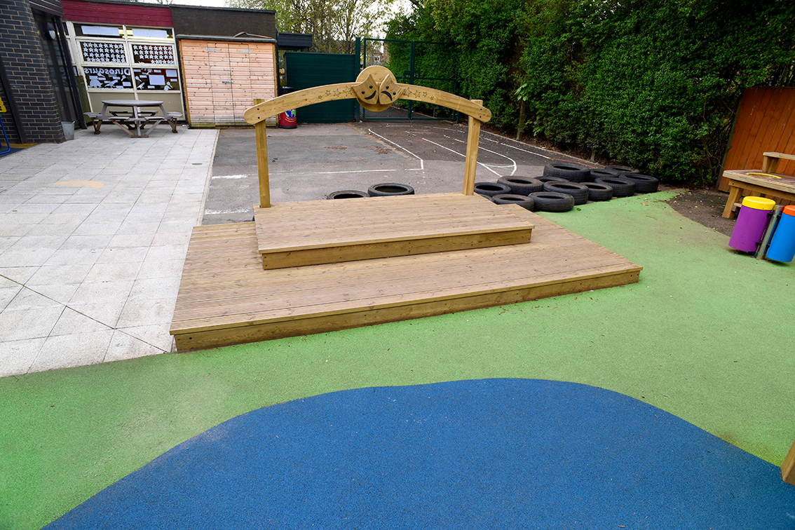 Timber play equipment and canopy for St Catherine's