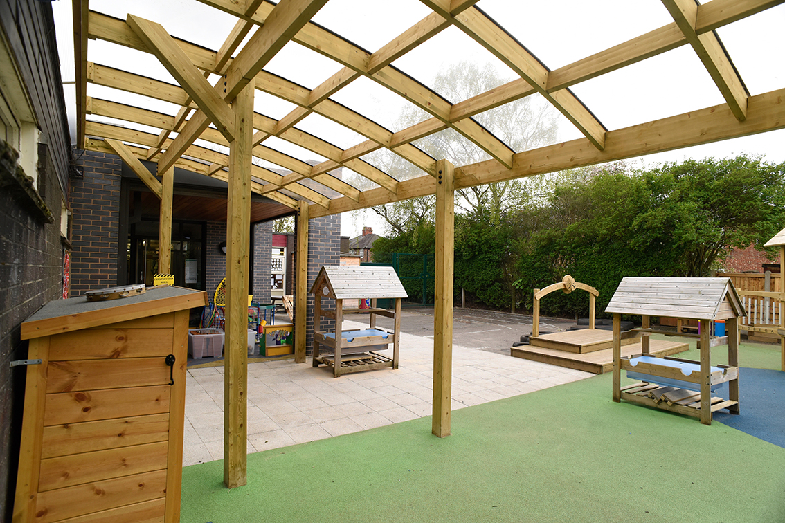 Timber Play Equipment And Canopy For St Catherines 1 7