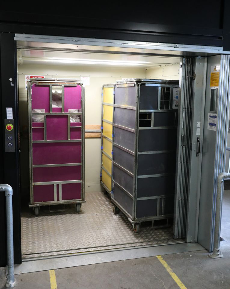 3 Stannah goods lifts support Yeovil laundry