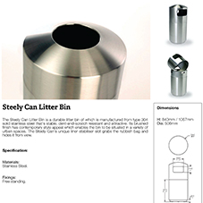Steely Can Litter Bin