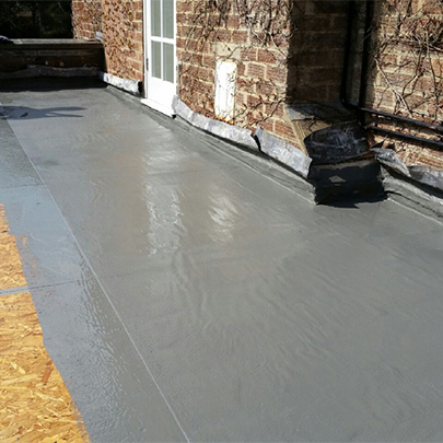 Westwood wecryl waterproofing system for terrace refurbishment for Terrace waterproofing